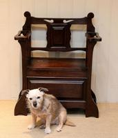Small Proportioned Oak Hall Bench (8 of 9)