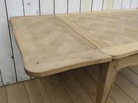 Bleached Oak Extending Draw Leaf Dining Table Desk (7 of 10)