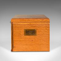 Antique Collector's Specimen Case, English, Oak, Chest, Jewellery Box, Edwardian (5 of 12)