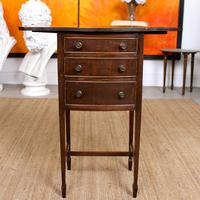 Chest of Drawers Mahogany Bowfront Drop Leaf 19th Century Petite (6 of 11)
