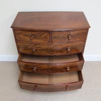 Mahogany Bow Front Chest of Drawers c.1850 (6 of 10)