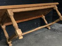 Bleached Oak Wide Farmhouse Dining Table (11 of 15)