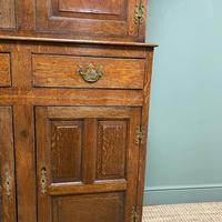 Magnificent Georgian Period Oak Cwpwrdd Deuddarn Cupboard (8 of 8)