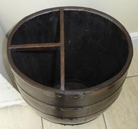 Edwardian Walking Stick Cane Umbrella Stand Coopered Oak Barrel (9 of 14)