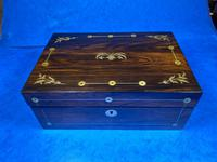 William IV Rosewood Jewellery Box With Mother Of Pearl Inlay (8 of 17)