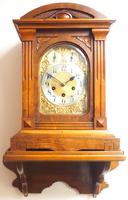 Westminster Chime Bracket Clock Art Nouveau 8-Day Musical Mantel Clock on Bracket c.1900 (4 of 9)