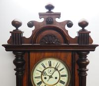 Great Antique German Twin Walnut 8-Day Mantel Clock Vienna Striking Wall Clock (10 of 11)