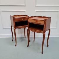 French Oak Bedside Tables c.1930 (2 of 5)