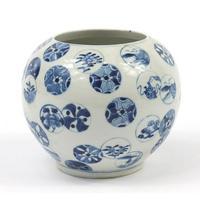 Chinese Blue & White Porcelain Globular Vase (4 of 6)