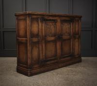 Solid Oak Linenfold Cabinet (2 of 9)