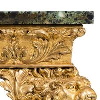 Imposing Victorian giltwood console table in the manner of William Kent (5 of 8)