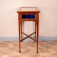 Fine Quality Edwardian Inlaid Mahogany Bijouterie Display Table (9 of 18)