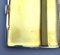 Good & Large Solid Silver Engine Turned Cigarette Case c.1963 (3 of 5)