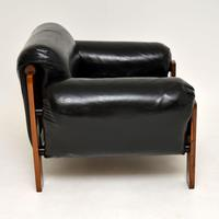 1960's Danish Vintage Leather & Rosewood Armchair (7 of 12)