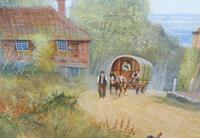 Large oil on canvas English countryside view  Listed artist Richard Temple (Free shipping to Mainland England) (4 of 10)