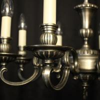 French Brass Silver Plated 8 Light Chandelier (3 of 10)