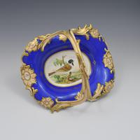 Fine & Large Alcock Rococo Porcelain Ornithological Basket c.1845 (8 of 17)