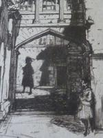 "David Young Cameron Drypoint Etching 1899 "" In Sterling Castle "" (2 of 5)"
