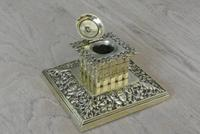 Fine William Large William Tonks & Sons Brass Inkwell c.1890 (2 of 6)