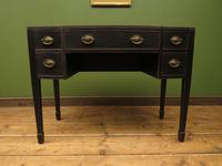 Antique Black Painted Console Table or Desk with Drawers, Gothic Shabby Chic (4 of 16)