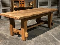 Chunky Bleached Oak Farmhouse Dining Table (5 of 12)