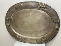 Large Danish Sporting Victorian 19th Century Danish Silver Plate Salver (10 of 31)