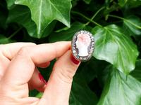 Carved Hardstone & 1.62ct Diamond, 18ct Yellow Gold Dress Ring - Antique c.1770 (2 of 9)