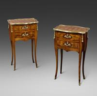 Fine Pair of Ormolu & Parquetry Side Tables