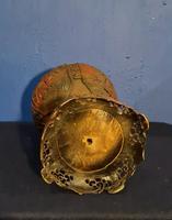Antique 19th Century Asian Chinese Cinnabar Vase Urn (6 of 12)