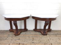 Pair of Demi Lune Tables with Marble Tops (4 of 10)