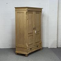Antique Pine Wardrobe 'Dismantles' c.1900 (3 of 5)