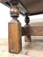 Vintage Solid Oak Low Occasional Table (3 of 7)