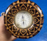 Victorian Burr Maple Thermometer & Compass by Thomas Barton (10 of 14)