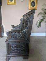 Victorian Carved Oak Settle (5 of 6)