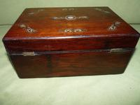 Inlaid Rosewood Jewellery / Table Box c.1860 (5 of 8)