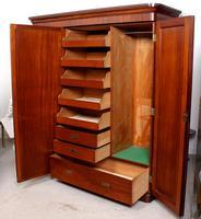 Wardrobe Triple Compactum Wardrobe Victorian Mahogany (7 of 12)