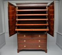 Georgian Flame Mahogany Linen Press / Wardrobe (7 of 13)