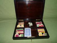Fine Quality French Inlaid Games Box c.1860 (4 of 10)