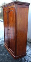 1900s Handsome 2 Door Mahogany Wardrobe All Hanging Drawers at Base (2 of 4)