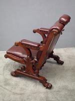 William IV Mahogany and Burgundy Leather Armchair (9 of 12)