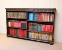 Oak Open Bookcase c 1930 (9 of 12)
