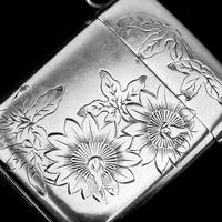 Antique Victorian Solid Silver Vesta Case Aesthetic Style Engravings - Joseph Whitten 1885 (8 of 9)