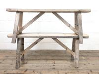 Pair of Antique Rustic Pine Benches (6 of 6)