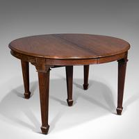 Antique Colonial Campaign Table, Indian, Rosewood, Dining, Extending, Victorian (2 of 12)