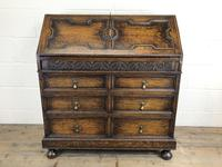 Early 20th Century Antique Oak Geometric Bureau (M-1657) (2 of 17)