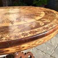 A Fine 19th C Italian Inlaid Parquetry Occasional, Centre Table with Rare Hidden Writing Slope (6 of 12)