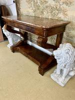 Regency Burr Walnut Console Table with Marble Top (7 of 9)