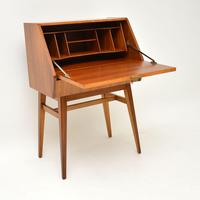 1950's Vintage Walnut Writing Bureau (2 of 8)