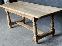 French Bleached Oak Farmhouse Kitchen Table (13 of 25)