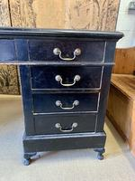 19th Century Ebonised Desk with Brass Swan Neck Handles (5 of 6)